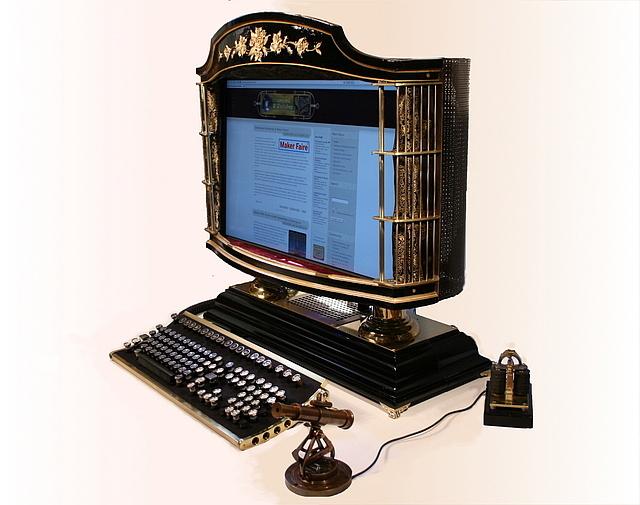 All-in-one computer created by Mr. Steampunk Jake Von Slatt