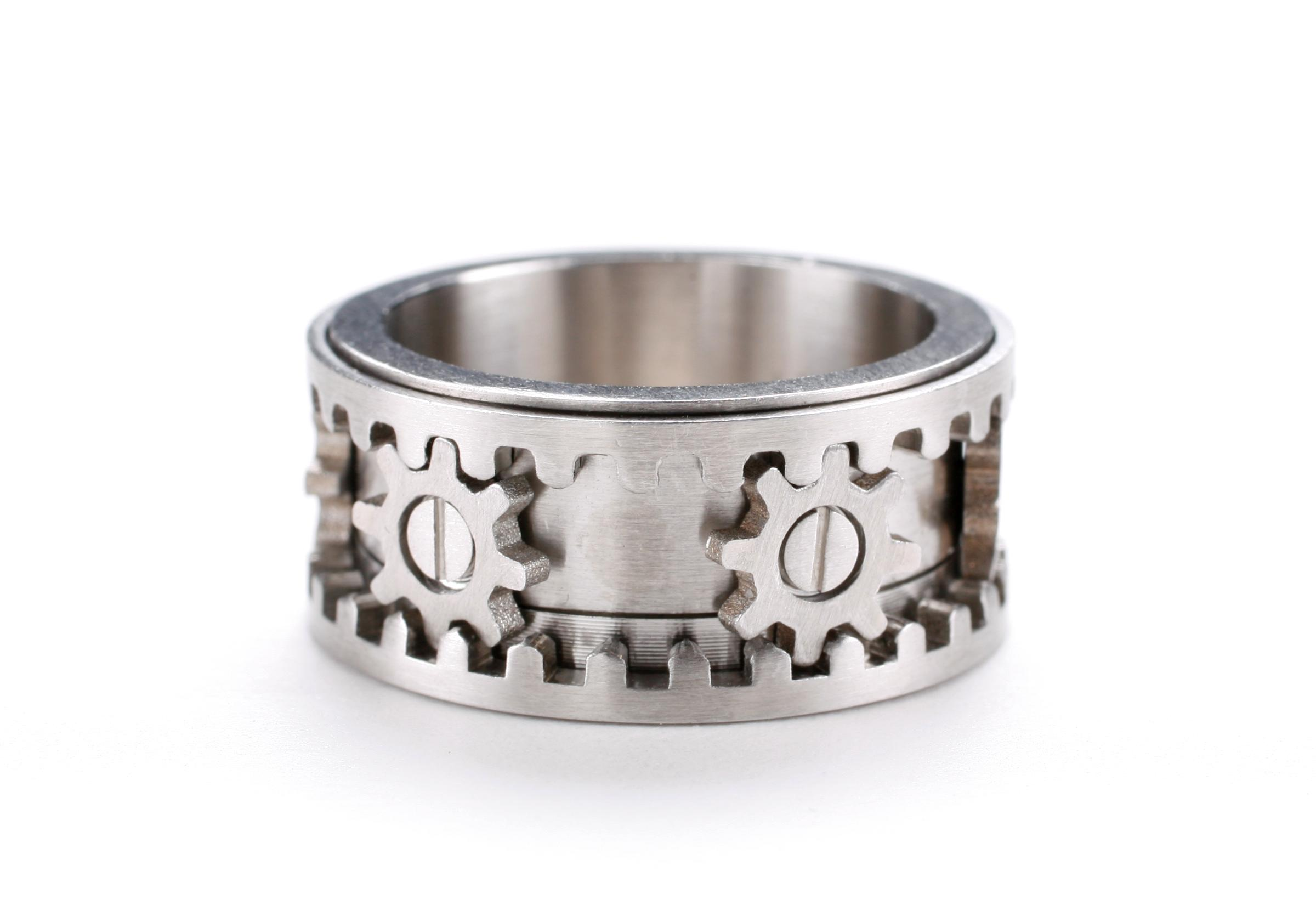 Mens Gear Wedding Ring