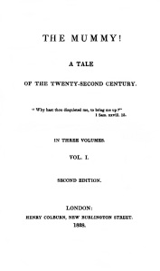 The Mummy! 1828 2nd edition - title page